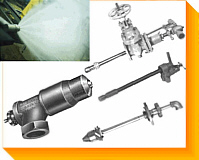 Atomizers and Sprayers for Biofuels, Burners, Combustion, Environmentalm Process - Chemicals, Oils, Wastes & Water - NAO Process Sprayers & Oil Torches - Wide Range of Flows & Pressures - Angle, conical, hollow, swirl or flat sprays with high flow turndowns - Spray Testing