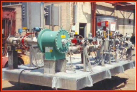 Large Control Skid for Oxidizer with Booster Blower, Control & Isolation Valves, 2 Weatherproof Control Boxes