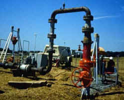 Field connection from the pipeline to the portable flare trailer -- with purge gas connection and isolation valve