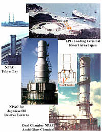 Additional Enclosed Flares (GROUND FLARES) LPG Terminal Japan, Powerplant Tokyo, Oil Reserve Japanese Government, Chemical Plant