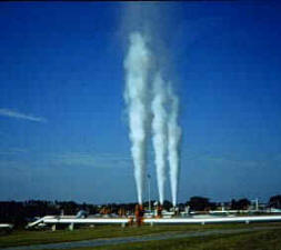Venting pipeline natural gas -- Before use of recompression and portable flare trailer -- venting is 23 times worse environmental damage than CO2 from burning