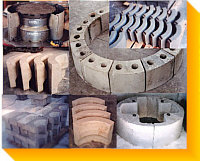 Standard, Custom & Special Refractories - Quick Delivery, Stock - Fired Shapes - Alloy Encased Blocks - Needles & Reinforcing  Local Sourcing Worldwide