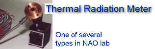 NAO has many thermal radiation sensors for monitoring flares and vents, also heat stress monitors for long term work area studies.