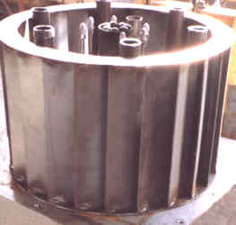 NAO VORTUMIX Waste Burner with Six (6) Flame Arrestor Burners -- Used for Pulp & Paper Non-Condensable Gases