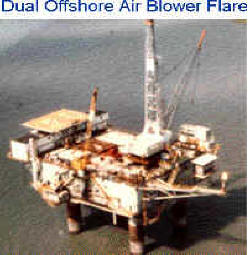 Dual Smokeless Air Blower Flare -- Offshore Application