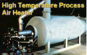 Horizontal Direct Fired High Temperature (1800 degr F) Process Air Heater for Chemical Plant Application