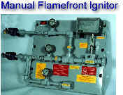"Manual flamefront ignitor with pilot gas control -- tested for 1 mile of 1"" pipe"