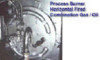Horizontal Fired Process Burner -- Combination Gas & Oil