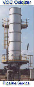 Vertical Thermal Oxidizer for VOC Control on Pipeline Pigging Operation