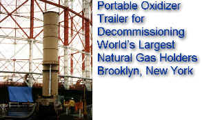 NAO Portable Thermal Oxidizer -- Brooklyn, NY -- Natural Gas and Odor Control for decommissioning world's largest gas holders